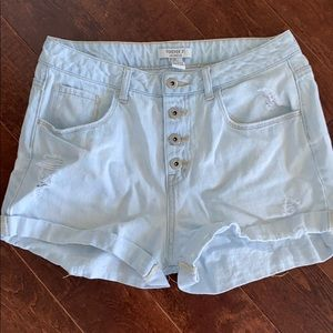 High wasted Jean Shorts with Button Fly